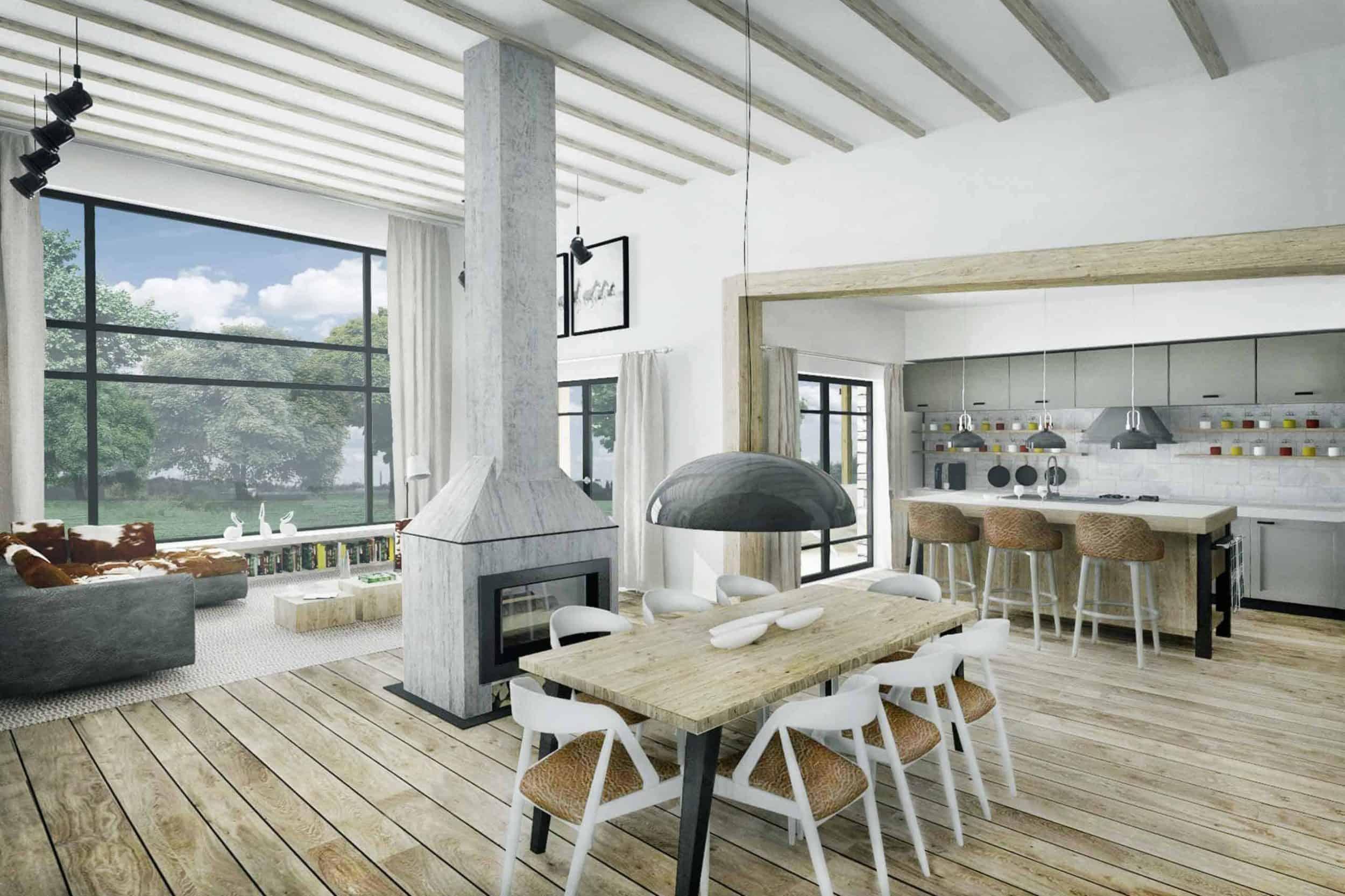 Truoba Class 116 house plan dinning room