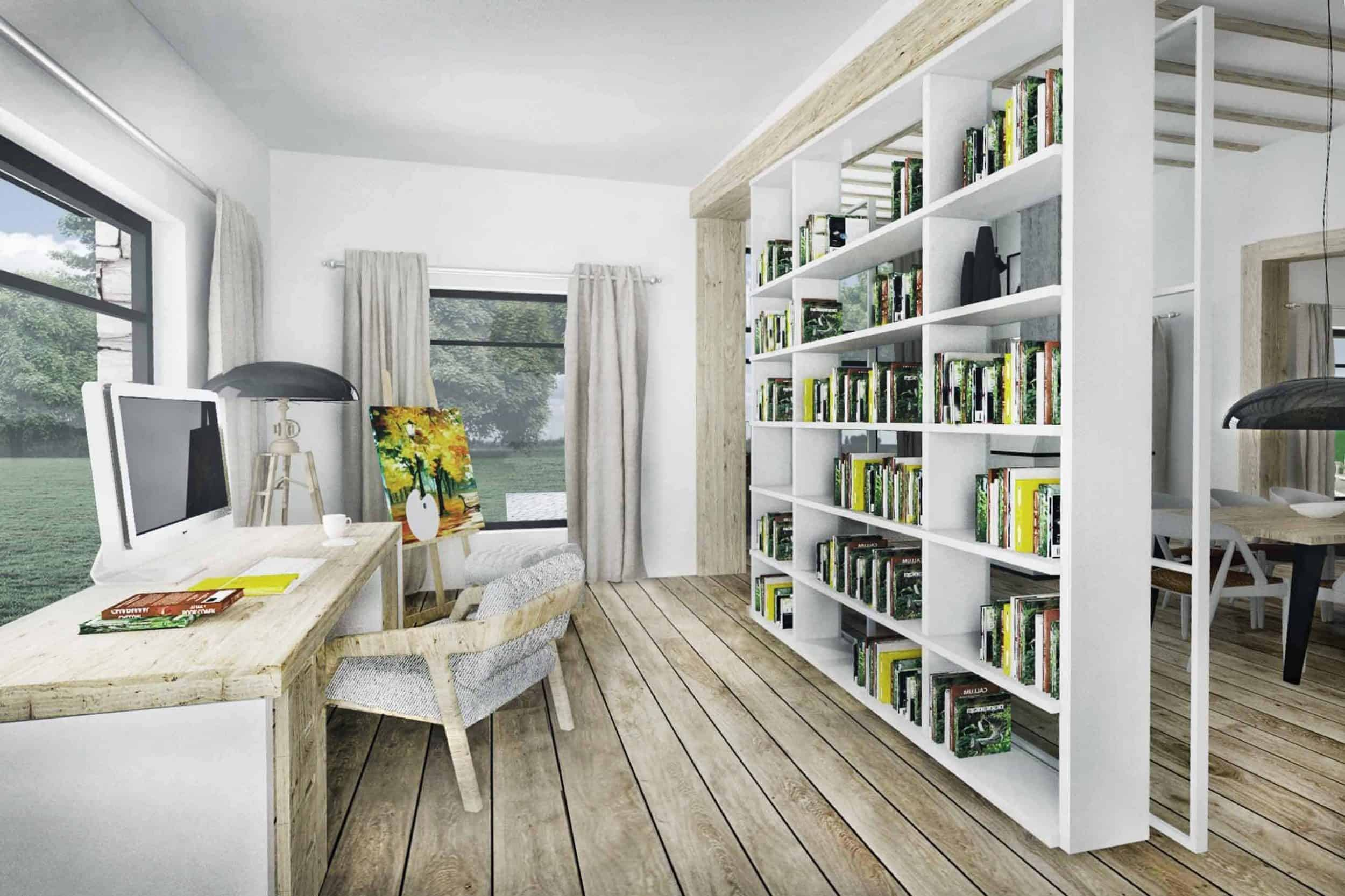 Truoba Class 116 house plan home office