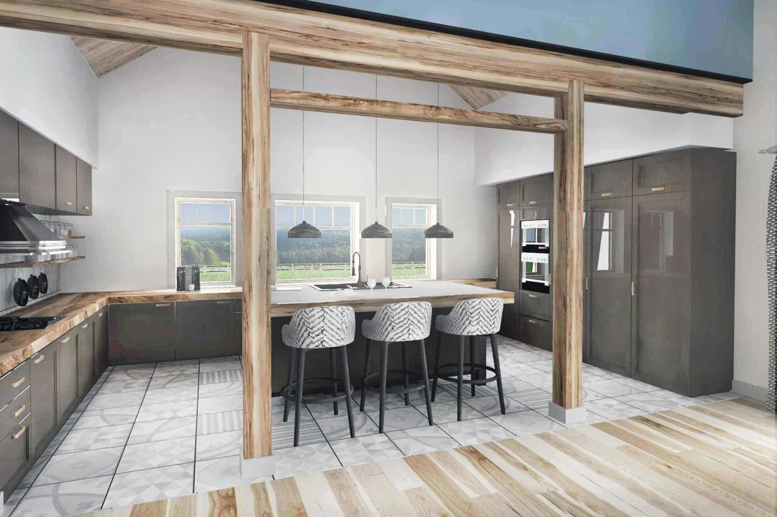 Truoba Class 216 house plan kitchen