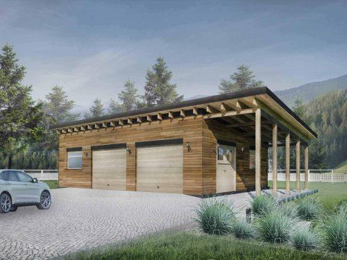 Truoba detached garage plans facade