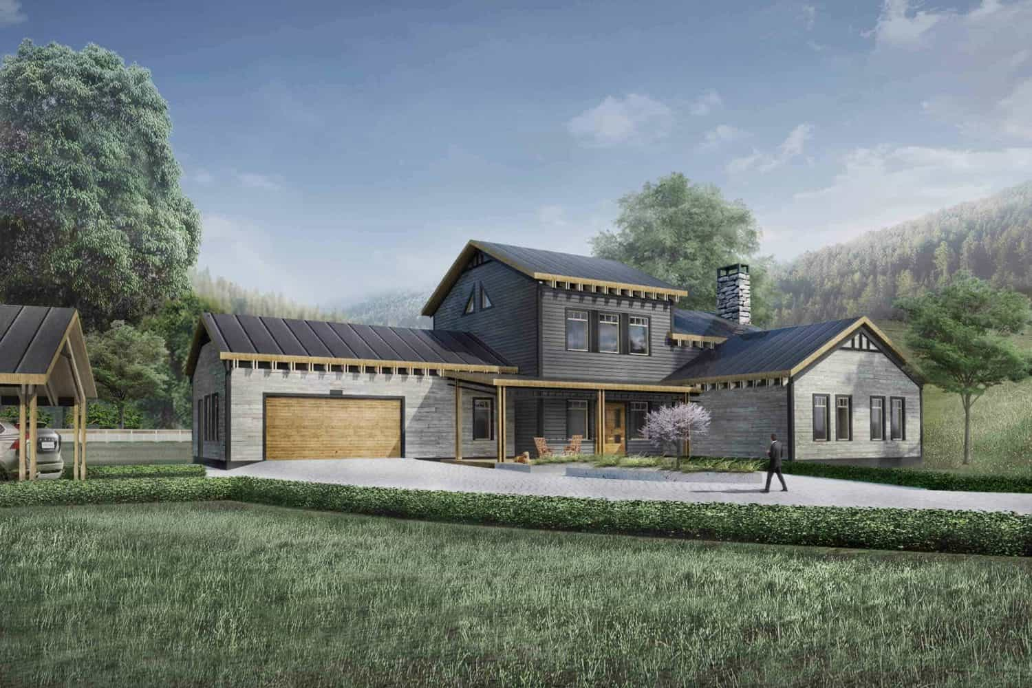 Truoba Class 316 traditional house plans front elevation