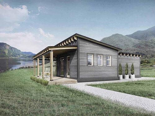 Truoba Mini 117 house plan front elevation