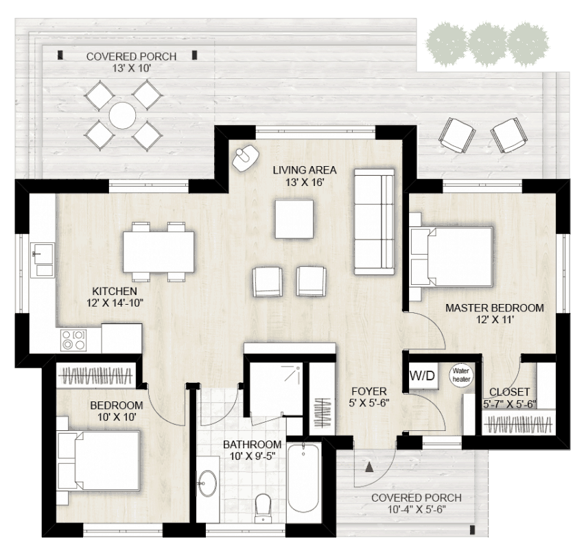 Accessory dwelling unit floor plan