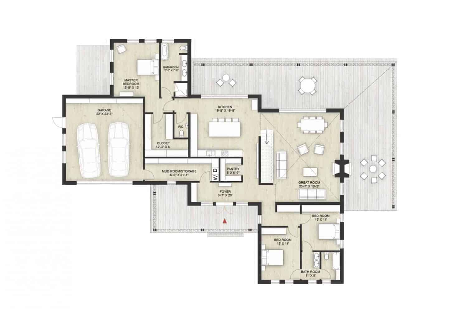 Truoba Class 316 house first floor plan