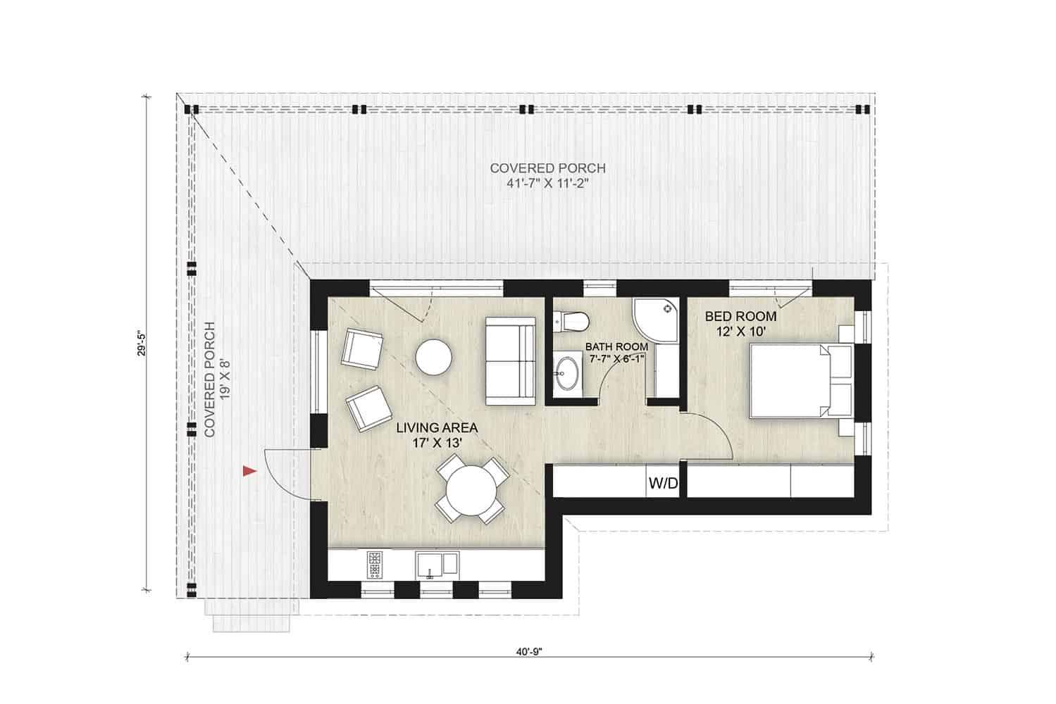 Truoba Mini 117 house floor plan