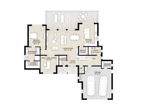 Truoba 118 - 3 bedroom house plan