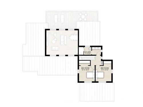 Truoba 118 - 3 bedroom house second floor plan