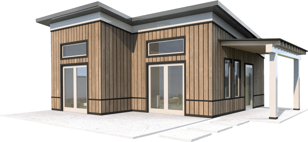 Free modern house elevation