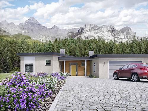 Truoba Class 119 Angled Garage House Plans