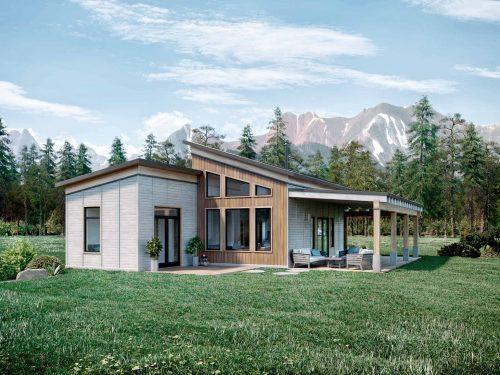 Truoba Mini 419 - 1200 sq ft house elevations