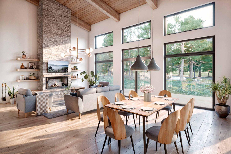 Truoba Class 519 unique house plans dining room
