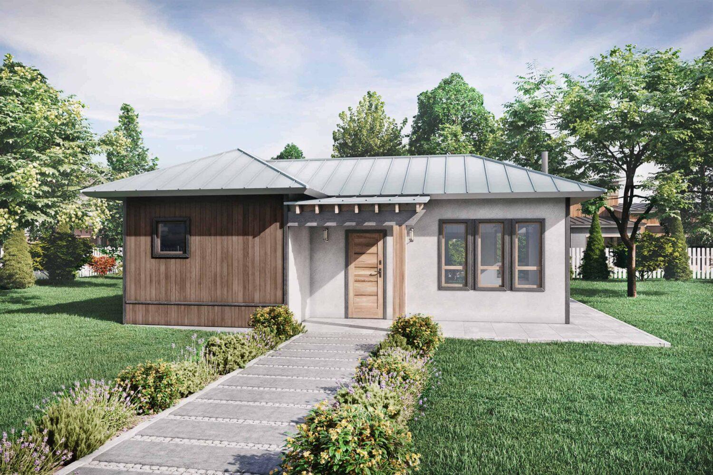 Truoba Mini 120 cabin house plans exterior