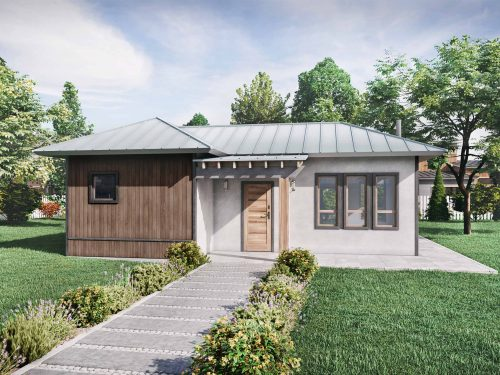 Truoba Mini 120 cabin house plans exterior