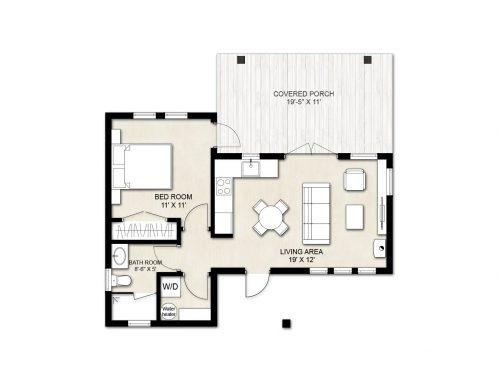 Truoba Mini 120 house floor plan
