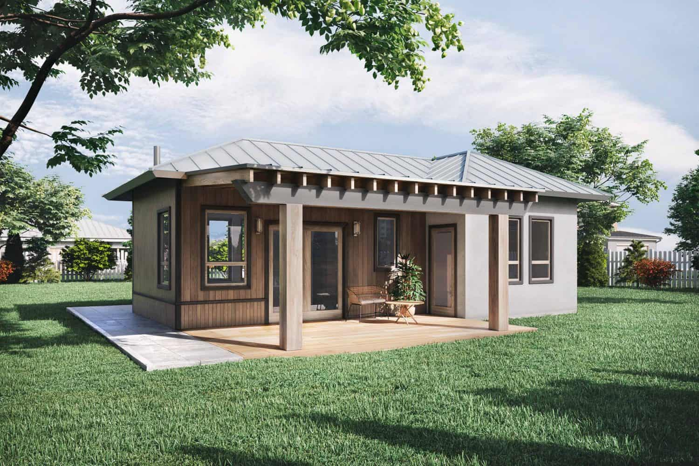 Truoba mini 120 house plan with porches