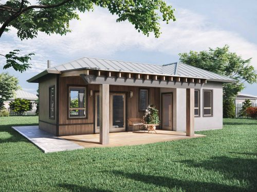 Truoba mini 120 house plan with porches