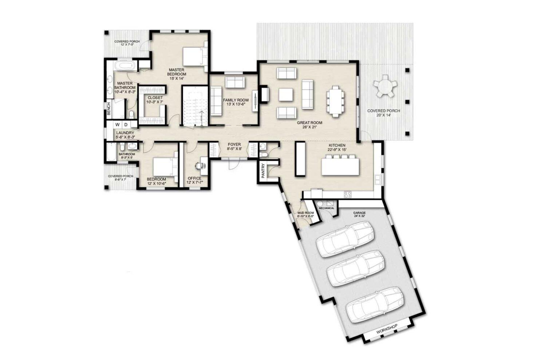 Truoba Class 519 first floor house plan