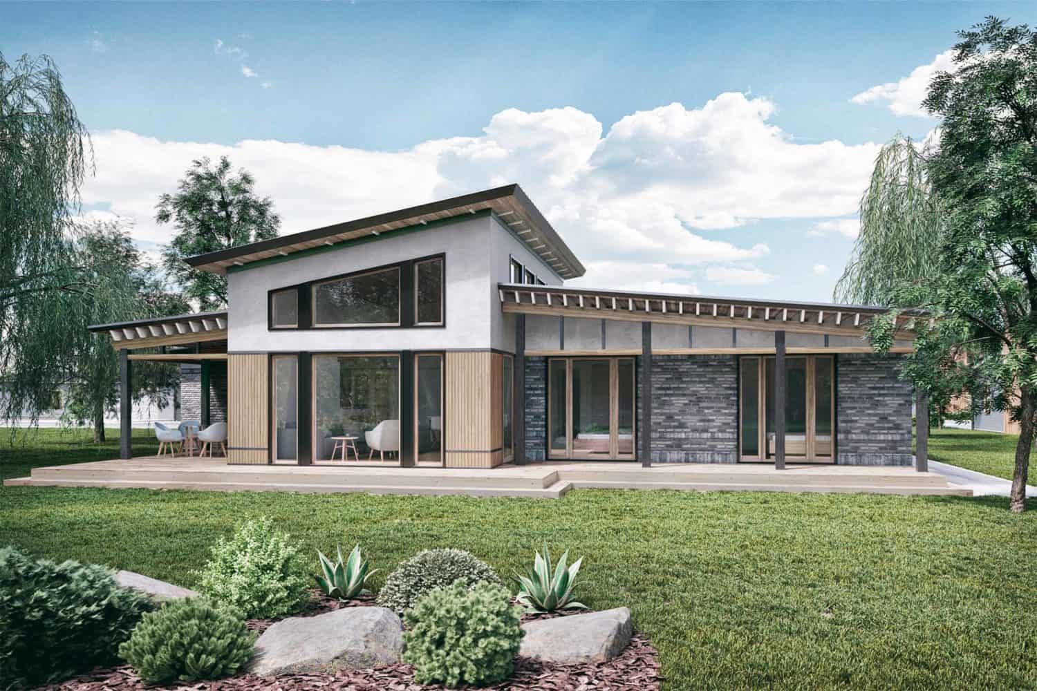 1800 sq ft house rear elevation Truoba 218