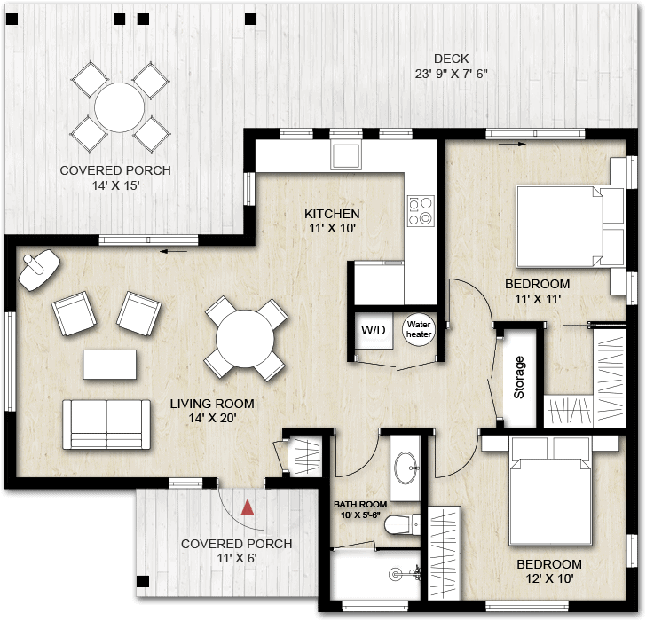 Truoba Mini 217 house plan