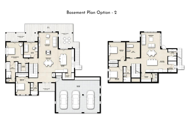 Truoba 218 basement house plan