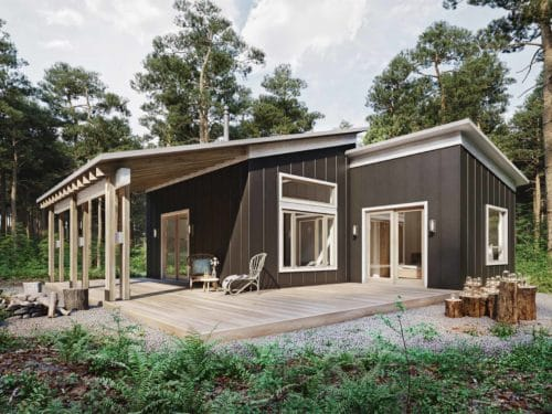 600 sq. ft. house plans - Truoba Mini 220