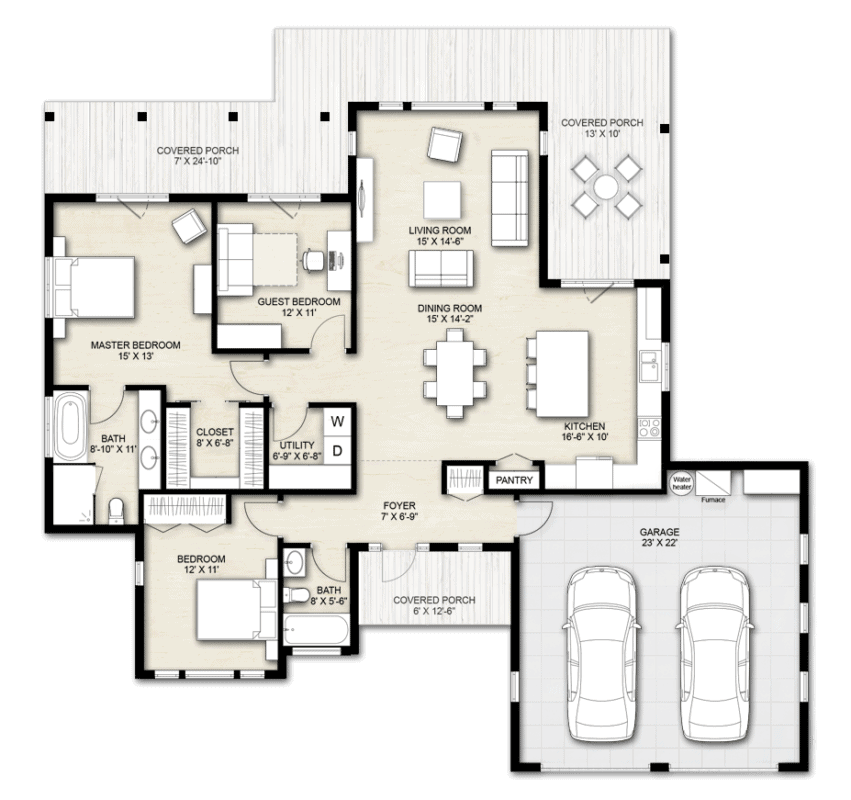 Truoba 3 bedroom house plan