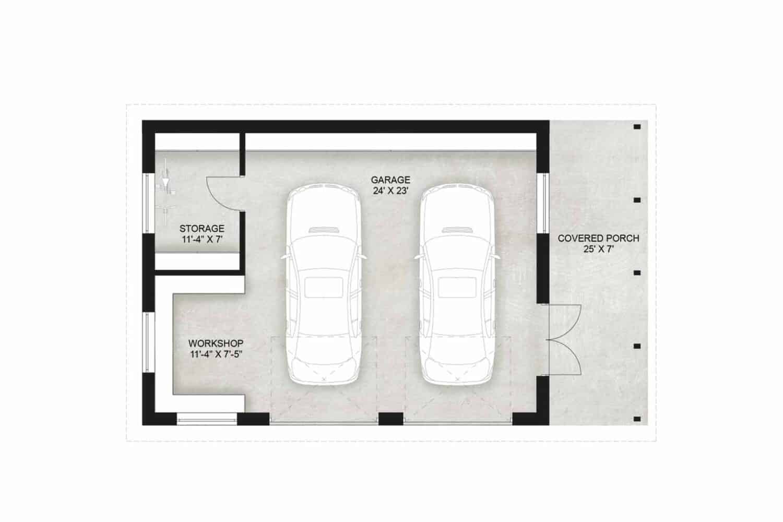 Truoba Garage 117 detached garage plan