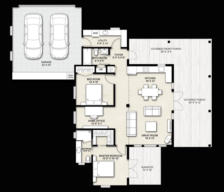 Truoba Mini 419 Mountain Cabin House Plans Truoba Plan