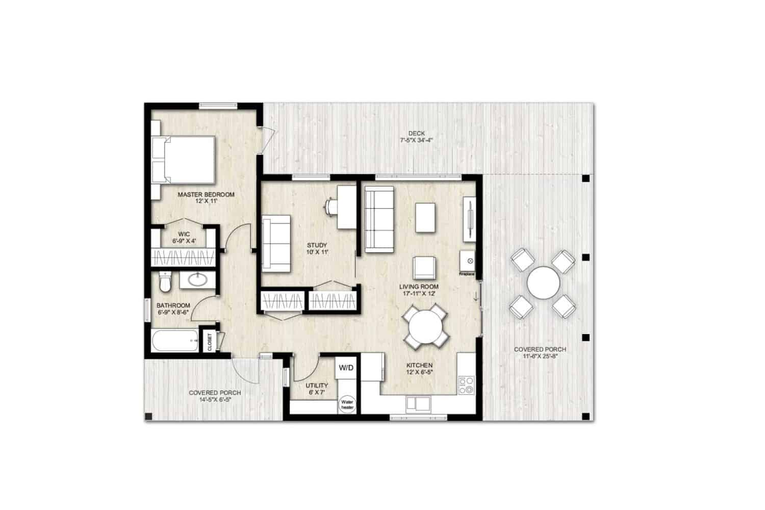 Truoba Mini 615 house floor plan