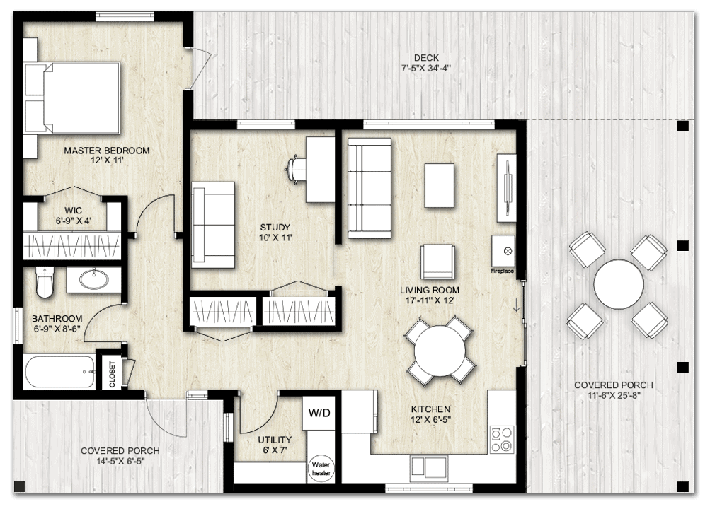 Truoba Mini 615 guest house plan