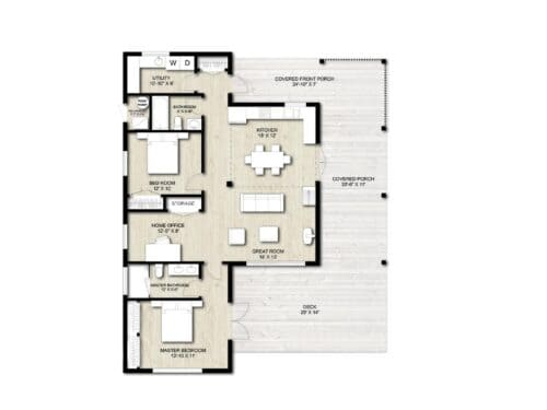 Truoba 321 first floor house plan