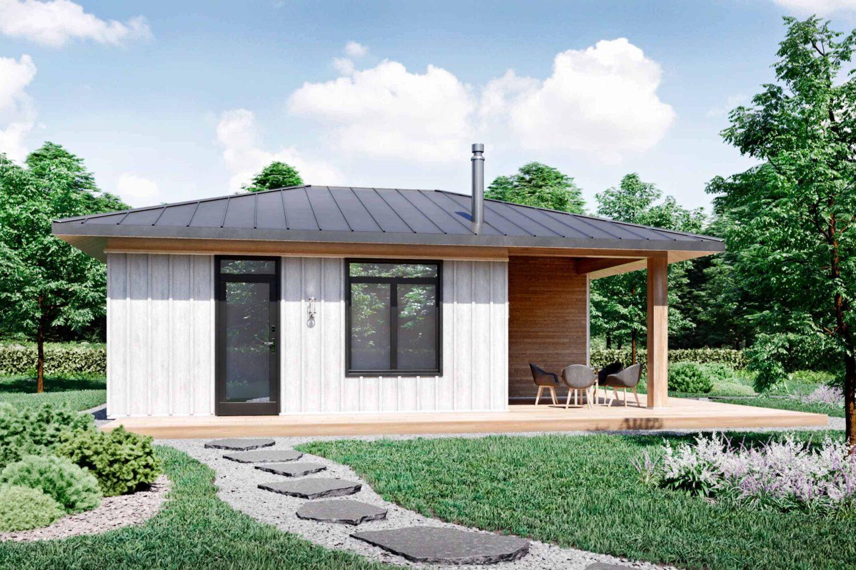 Truoba Mini 221 pool house plan