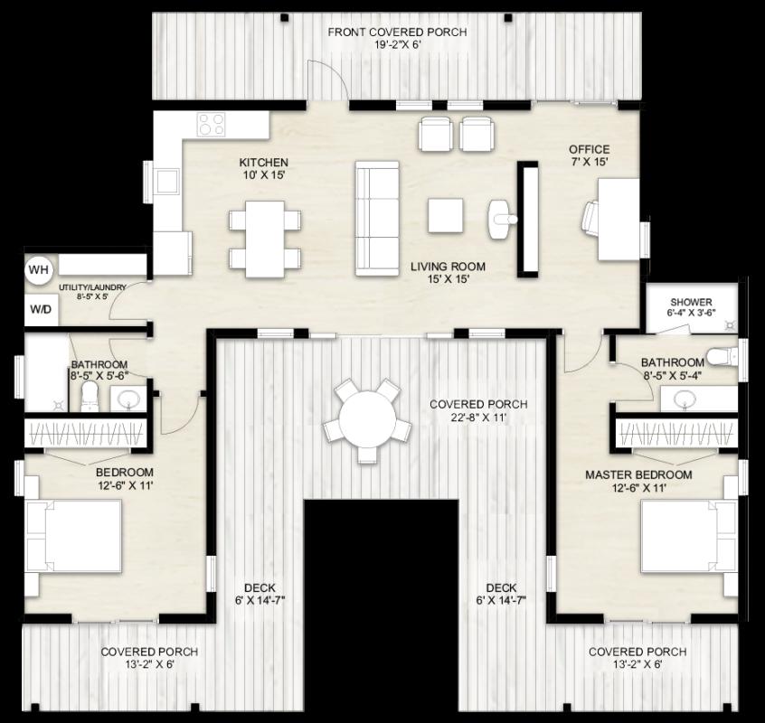 Truoba u-shaped house plans