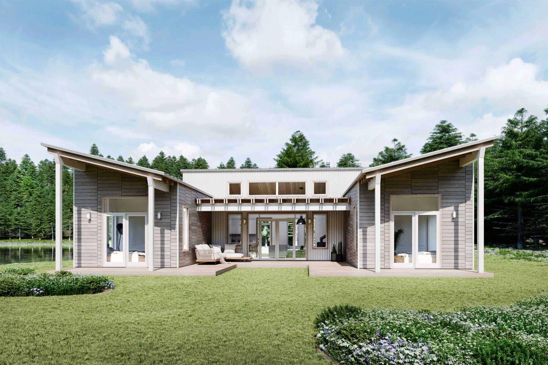 Truoba Mini 721 u-shaped house plans
